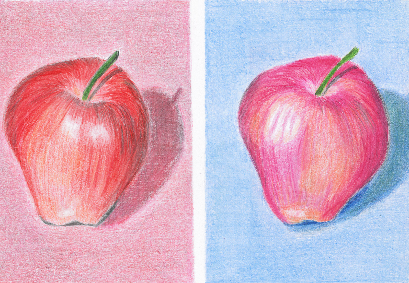 Apples -- colored pencil on bristol board